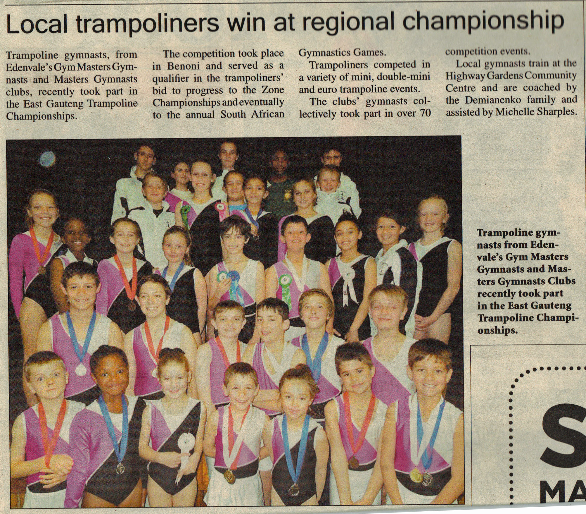 Local Trampoliners win at Regional Championship